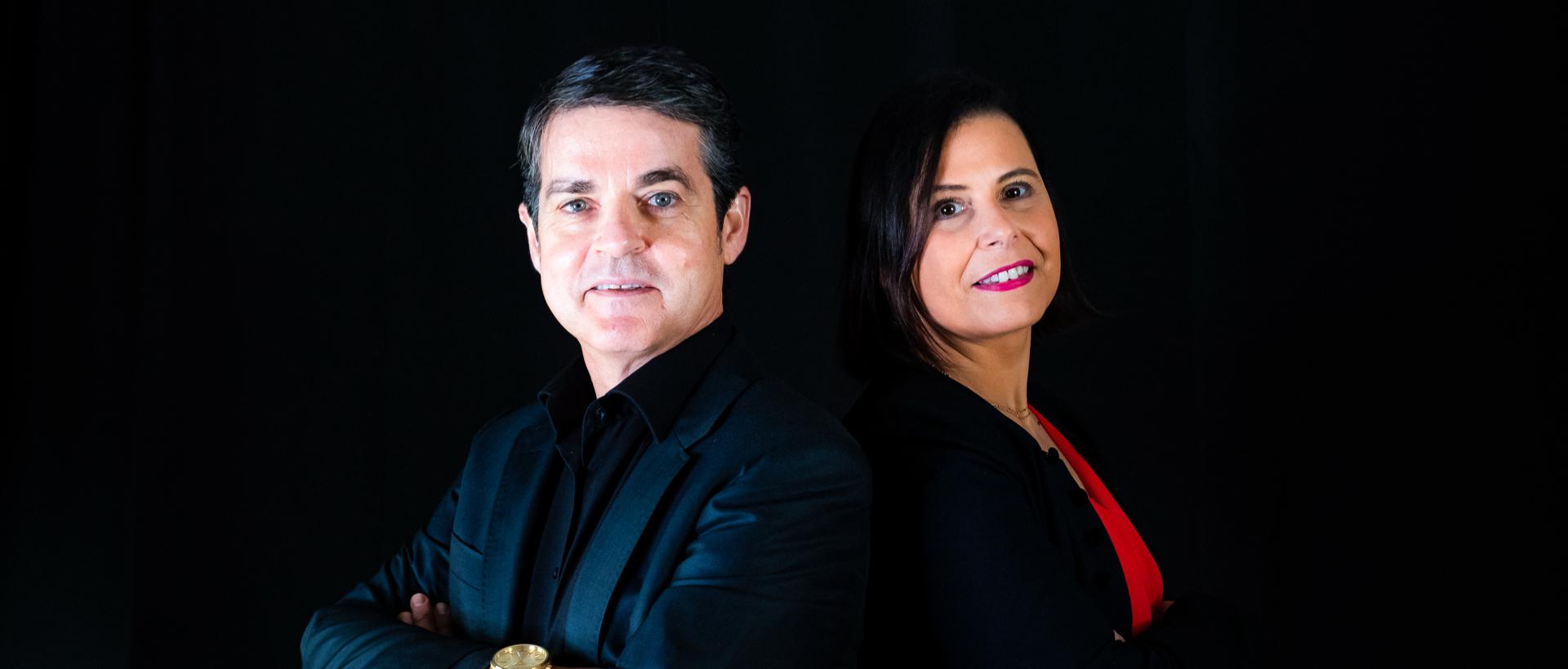 Portraits de Christophe Alvarez et Agnès Pierre, co-auteurs du livre Libérez votre Futur et de la Méthode Alpha and You©